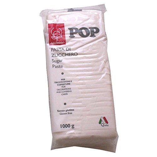 Pasta di zucchero Modecor POP bianca 1 Kg per copertura bianco candido