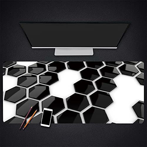 Alfombrilla para ratón para Juegos Alfombrilla para Ordenador portátil para Oficina Alfombrilla para Teclado para Juegos Escritorio, Superficie Impermeable de Goma antideslizante-600x300x3mm