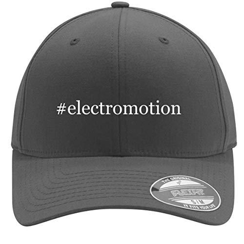 #electromotion - Adult Men's Hashtag Flexfit Baseball Hat Cap, Silver, Large/X-Large