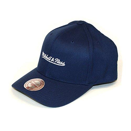 Mitchell & Ness Brand Logo 110 Curved Snapback (Navy/White)