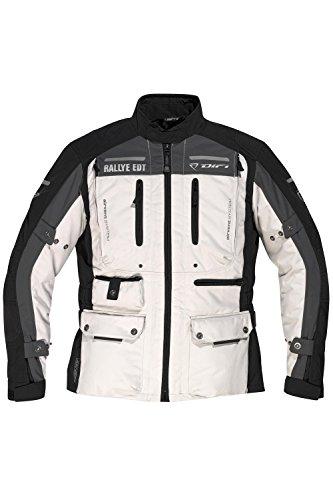 DIFI ATLAS AEROTEX® Motorradjacke Color schwarz/hellgrau/dunkelgrau, Size S