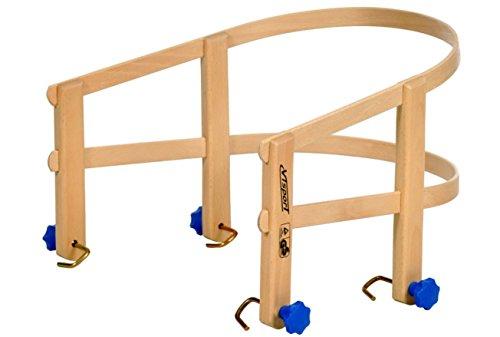 Unbekannt Schlitten Lehne aus lackiertem Buchenholz Holzlehne für Davos Schlitten