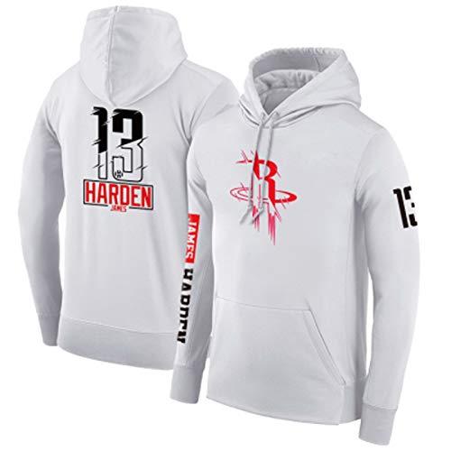 Jersey de Baloncesto HǎRDěN 13# RǒCKěTS Imprimir Hoody Mens Jerseys Ocio Uniformes de Deportes Camisa Camisa de Manga Larga Chaquetas con Capucha Jersey, Estilo Tod M