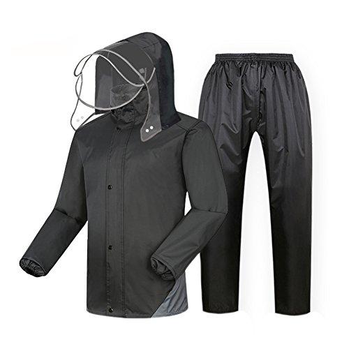 SK Studio Unisex 2 Stück Reflektierend Wasserdicht Regenmantel Regenjacke Packbar Leicht Regenanzug