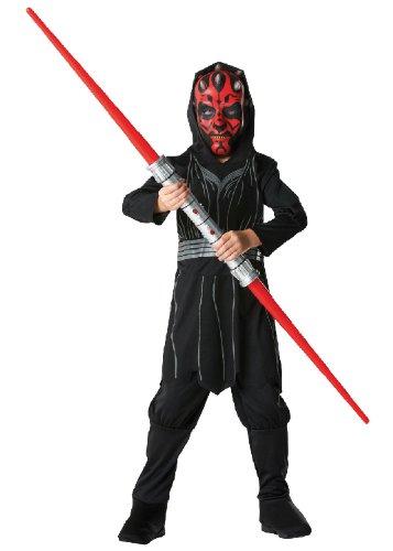 Rubie's Star Wars Kinder Kostüm Darth Maul mit Maske und Lichtschwert Gr.S