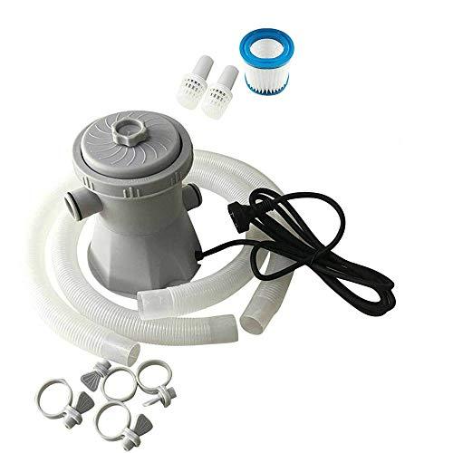 Sistema De Filtro De La Piscina Eléctrica Filtro De La Bomba Reutilizable Eléctrico Kit Purificador De Piscinas De Agua De Limpieza (UK Enchufe)
