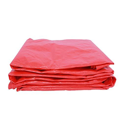 LDFZ PE-dekzeil, 10 x 12 m, rood, waterafstotend, kunststof dekzeil voor bestuurder, camper, schilder, boeren, motorfietsen, achterlichten