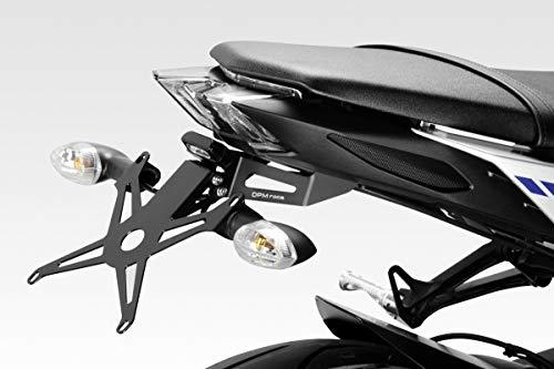 MT 09 FZ09 2017/20 - Kit Soporte de Matrícula (R-0785) - Ajustable Placa Portamatrículas - Luz LED y Registro Cadena Incluido - Accesorios De Pretto Moto (DPM Race) - 100% Made in Italy