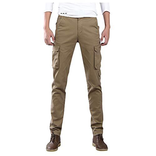 Vectry Pantalones Hombre Casual Al Aire Libre Pantalones de Trabajo Sólidos Pantalones Largos Multibolsillos Casual Pantalones Trabajo