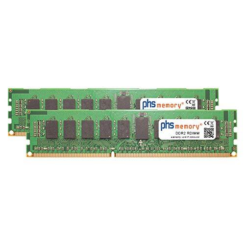PHS-memory 4GB (2x2GB) Kit RAM Speicher für Lenovo System x3800 (8865) DDR2 RDIMM 400MHz PC2-3200R