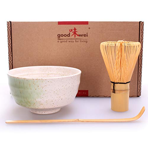 Goodwei Japanisches Matcha-Set, 3-teilig (Shiro)