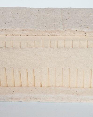 Prima I naturel matelas : 100% Latex naturel 16 cm 85 kg/Housse : Coton Bio (origine biologique contrôlée avec laine vierge 500 g piqué/env. 18 cm de hauteur