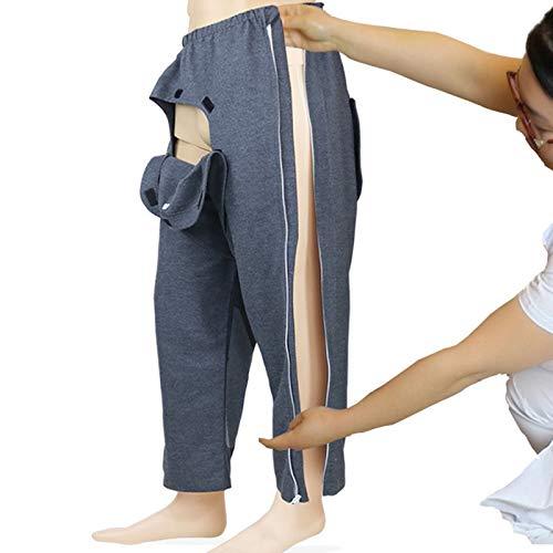 MILECN Chirurgie Reißverschluss Hose, Chemo Kleidung Patientenpflege Kleidung Für Behinderung/Ältere Menschen/Chirurgie/Chemotherapie/Fraktur,XL