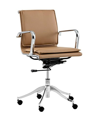 Sunpan Modern 102989 Morgan Full Back Office Chair, Tan