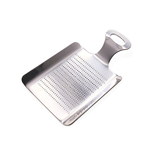 Ginger Grater, Newness Stainless Steel Shovel-shaped Food Grater for Ginger, Mini Ginger Grater for Garlic, Fruits and Root Vegetables