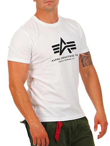 Alpha Industries Basic T-Shirt, Camiseta para Hombre, Blanco (White), XXX-Large