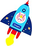 Cometas Para Adultos Cometa Cometas para niños fáciles de volar, cometas para adultos, niños, playa, parque, césped, actividades al aire libre, juegos, los mejores juguetes, cometa estilo cohete,