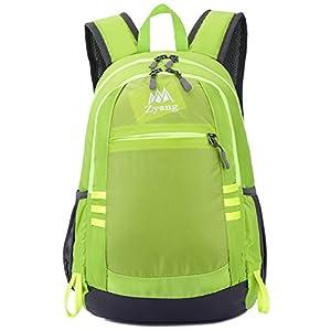 キッズ リュック アウトドア 子供 バックパック ハイキング 遠足リュック 軽量 登山リュック デイバッグ メンズ レディース 親子バッグ 撥水加工 ナイロン ジュニア 22L グリーン