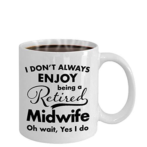 Dozili Pensioen Geschenken voor Vroedvrouw Koffie Mok Beste Dank U en Waardering Ideeën voor Gepensioneerde Mannen Vrouwen Vriend Coworkers Geheel in 2018, 11 Oz, Wit