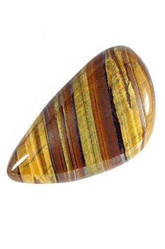 Estantería escalonada 44,70 cts natural dorado POWER TIGER EYE PEAR CAB GEMSTONE TGE-262