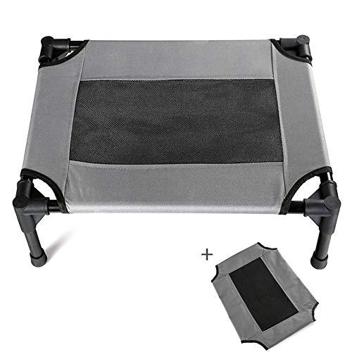 Cama elevada para mascotas Amadon con malla transpirable para descansar mascotas cama elevada para perros y gatos, camping, playa, uso en interiores XL 49.2x31.5x8.8 inch b
