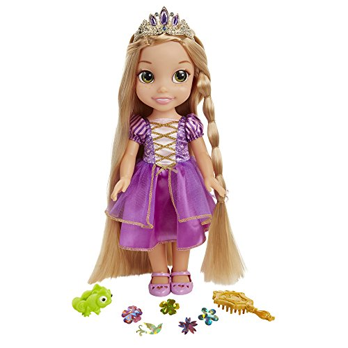 Glop Games- Rapunzel Muñeca con Sonidos, Multicolor, 35 cm (Jakks Pacific 3.0)