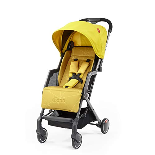 Diono Traverze Compact Luggage-Style Stroller, Yellow Sulphur
