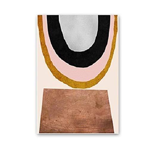 LiMengQi2 Pósteres abstractos de Escandinavia, impresiones, lienzo geométrico, pintura de pared, imágenes artísticas para sala de Estar, diseño de Interior para EL hogar(No Frame)