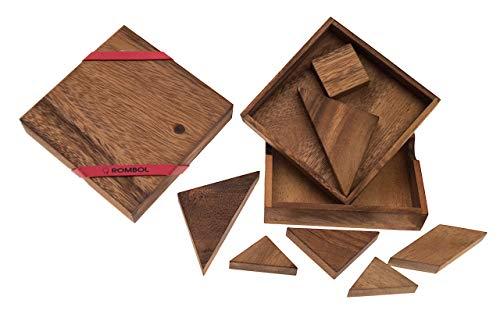 ROMBOL Tangram, das älteste Legespiel der Welt, Holz, Legespiel, Holzspiel, Denkspiel, Knobelspiel, Geduldspiel aus Holz