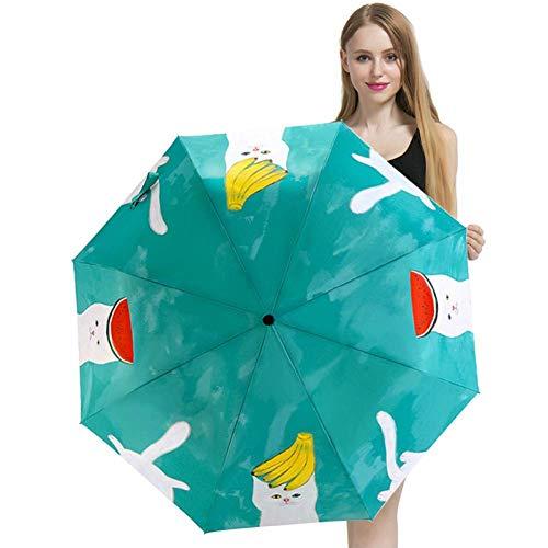 ZHANGYY Reiseschirm, automatische Öffnung Schließen Verstärkter Sonnenschirm Winddichter Rahmen Schülerschirm Rutschfester Griff Ist leicht zu tragen