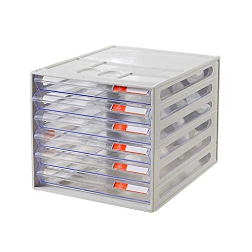 FACAIA Archivadores Cajón de Resina de Alta Transparencia Cajones Diferentes Artículos Plásticos (26X34X24CM) Librería (Color: Transparente)
