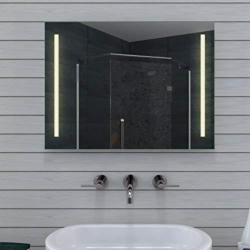 Lux-aqua Design Specchio da Bagno con Luce Caldo/Freddo–80x 60cm