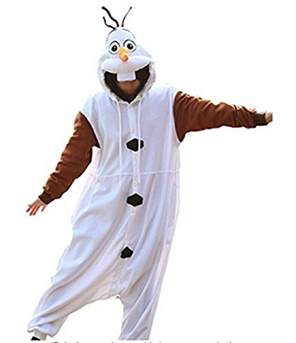 Canberries® Tier Onesie Jumpsuits Olaf Pyjama Oberall Hausanzug Kigurum Fastnachtskostuem Schlafanzug (S, Olaf)