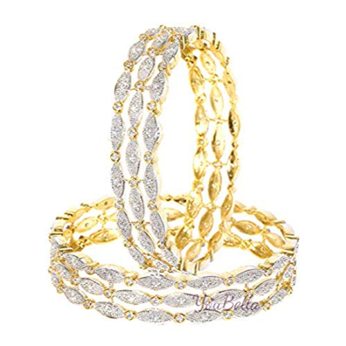 YouBella Ethnic Bollywood Gold Plated Traditional Indian American Diamond Bangles Jewellery for Women and Girls (6)