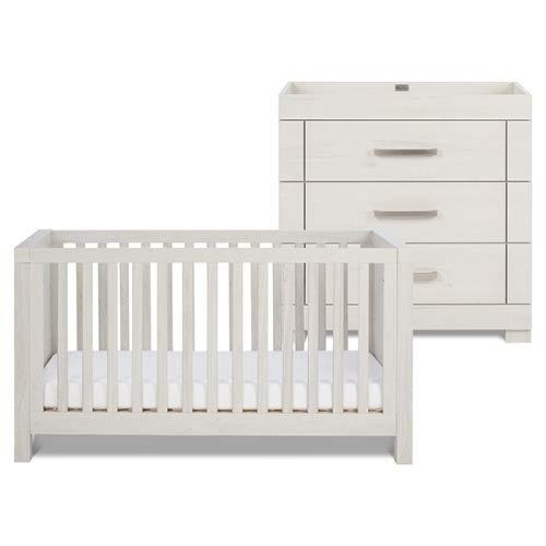 Silver Cross Coastline Cot Bed + Coastline Dresser Bundle