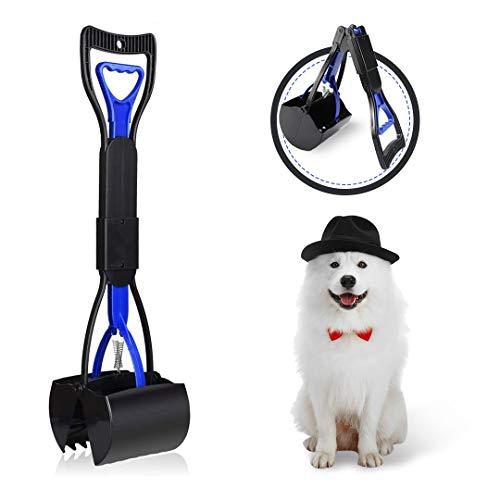 FayTun Pala para perros de mascotas, plegable, portátil, mango largo, recogedor de suciedad para mascotas, recogedor de suciedad para exterior y interior