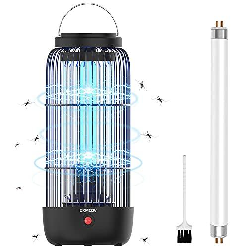 Qxmcov Elektrischer Insektenvernichter, 11W UV Elektrischer Mückenvernichter Insektenfalle Mückenlampe Fliegenfänger Fliegenfalle 40m² Insektenkiller für Innenräume, Schlafzimmer, Restaurant