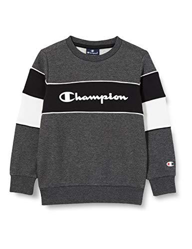 Champion Mädchen Boys' Seasonal Color Block Sweatshirt, Grey (Em501), S