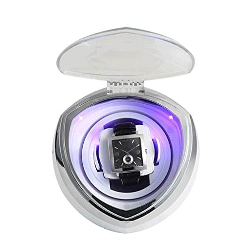 WRNM Cajas Giratorias para Relojes 4 Modos Rotación con Accesorios Multifunción Motor Silencioso Caja Individual Moderna Portátil Enrollador Reloj Automático Luz LED para El Hogar