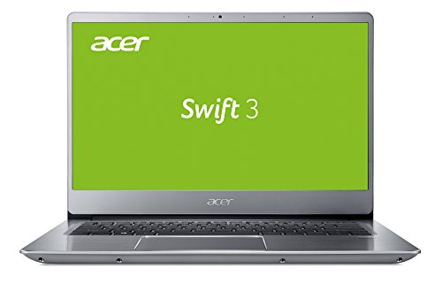 Acer Swift 3 (SF314-54-37H0) 35,6 cm (14 Zoll Full HD IPS matt) Ultrabook (Intel Core i3-7100U, 4 GB RAM, 256 GB SSD, Intel UHD, Win 10) silber