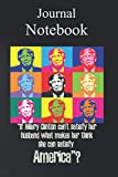 Journal Notebook, Composition Notebook: funny trump for men women anti pro satisfy America Size 6'' x 9'' with 100 College Ruled Pages for Notes, To Do Lists, Doodles, Soft Cover, Matte Finish
