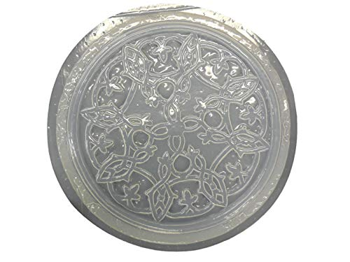 Celtic Design Stepping Stone Concrete Plaster Mold 1015