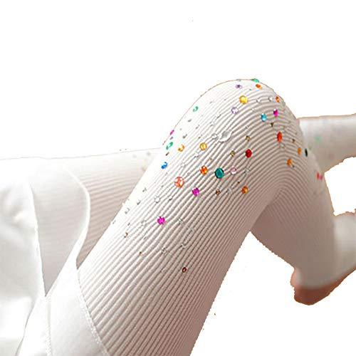 Egurs Dames panty met glitter bont strass ondoorzichtige hoge elasticiteit leggings