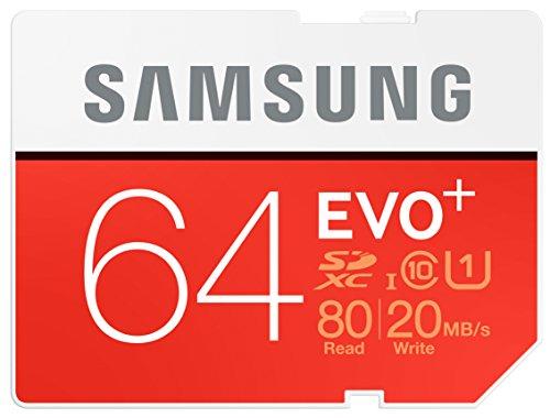 Samsung Speicherkarte SDXC 64GB EVO Plus UHS I Grade 1 Class 10 fur Foto und Video Kameras