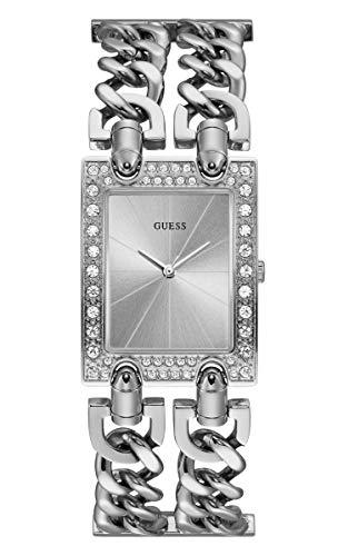 GUESS Reloj Analógico para Mujer de Cuarzo con Correa en Acero Inoxidable W1121L1