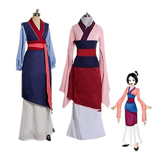 CHANGL Mulan Cosplay Kostüme Rot Blau Drama Prinzessin Kleider Mushu Drache Halloween Hua Mulan Kostüm