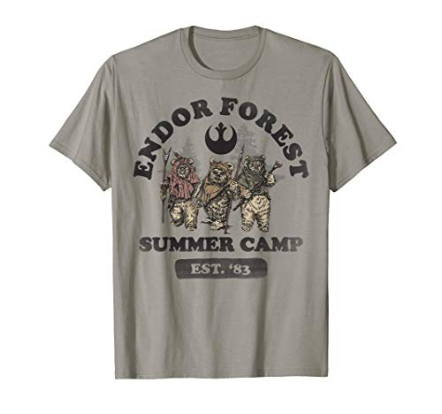 Star Wars Endor Forest Summer Camp Ewok Trio Portrait T-Shirt