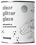 Hemway Holographic - Klare Glitzerlasur für bereits gestrichene Wände & Decken - für Dispersions-, Acryl- & Latexfarbe - für Holz, Lack, matte, glänzende Farben - 25 Glitzerfarben - 1 Liter