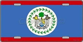 Belize Flag Vanity Metal Novelty License Plate Tag Sign