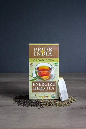 El orgullo de la India - Excitar el Ayurveda (Tulsi Negro) Té, de 6 paquetes (150 bolsitas de té) -te Energise Ayurveda (Tulsi Negro), de 6 paquetes (150 bolsitas de té)
